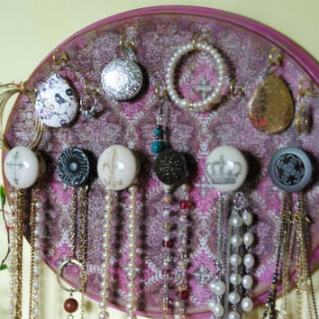 Jewelry Display/Necklace/ Earing Display Hanger Decorative/ antiqued/ Purple/ shabby chic