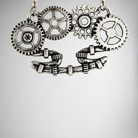 Steampunk Brass Knuckle Necklace