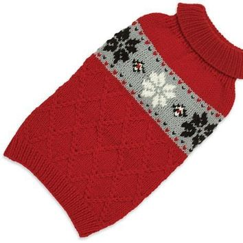 Hand Knit Sweater Snowflake
