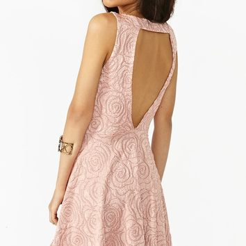 Burnout Rose Dress in  What's New at Nasty Gal
