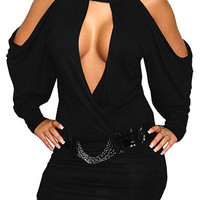 Built Tight (Black)-Great Glam is the web's top online shop for trendy clubbin styles, fashionable party dress and bar wear, super hot clubbing clothing, stylish going out shirt, partying clothes, super cute and sexy club fashions, halter and tube tops, b