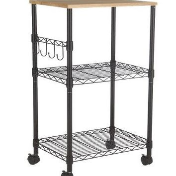 Room Essentials?- Microwave Cart - Black : Target