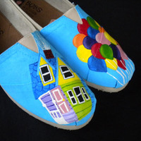 Custom Hand Painted Shoes - Up