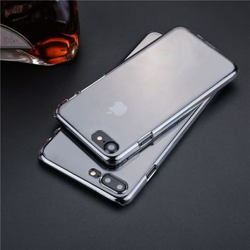 Transparent PC phone cases for iPhone 6 6s 6plus 6splus 7 7plus 5 SE 5s case coque ultra thin clear crystal plastic back cover