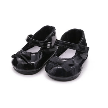 18 Inch American Girl Doll Shoes Handmade Leather Shoes White Black Fashion Cute Popular Ballet Shoes Doll Clothes Accessories