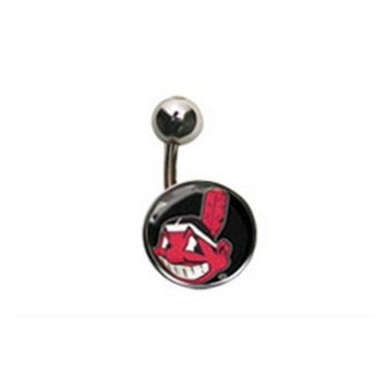 Cleveland Indians Belly Button Ring Naval Body Jewelry