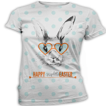Hipster Easter T-Shirt, Ladies, Womens, Unisex, Custom Easter Bunny Shirt, Personalized Easter Egg Tees