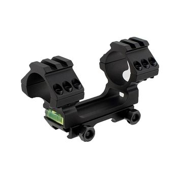 Tactical Dual Scope Ring 30mm Riflescope Mount with Bubble Level fits 20mm Picatinny Weaver Rail Hunting Accessories Scope Mount