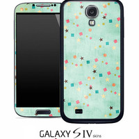 Vintage Green Starz Skin for the Samsung Galaxy S4, S3, S2, Galaxy Note 1 or 2