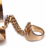 Gold Cuff and Ring