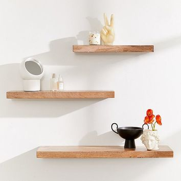 Simple Floating Wood Shelf | Urban Outfitters