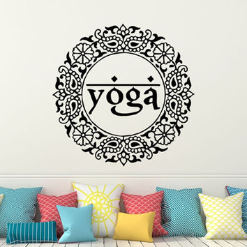 Yoga Vinyl Wall Decal