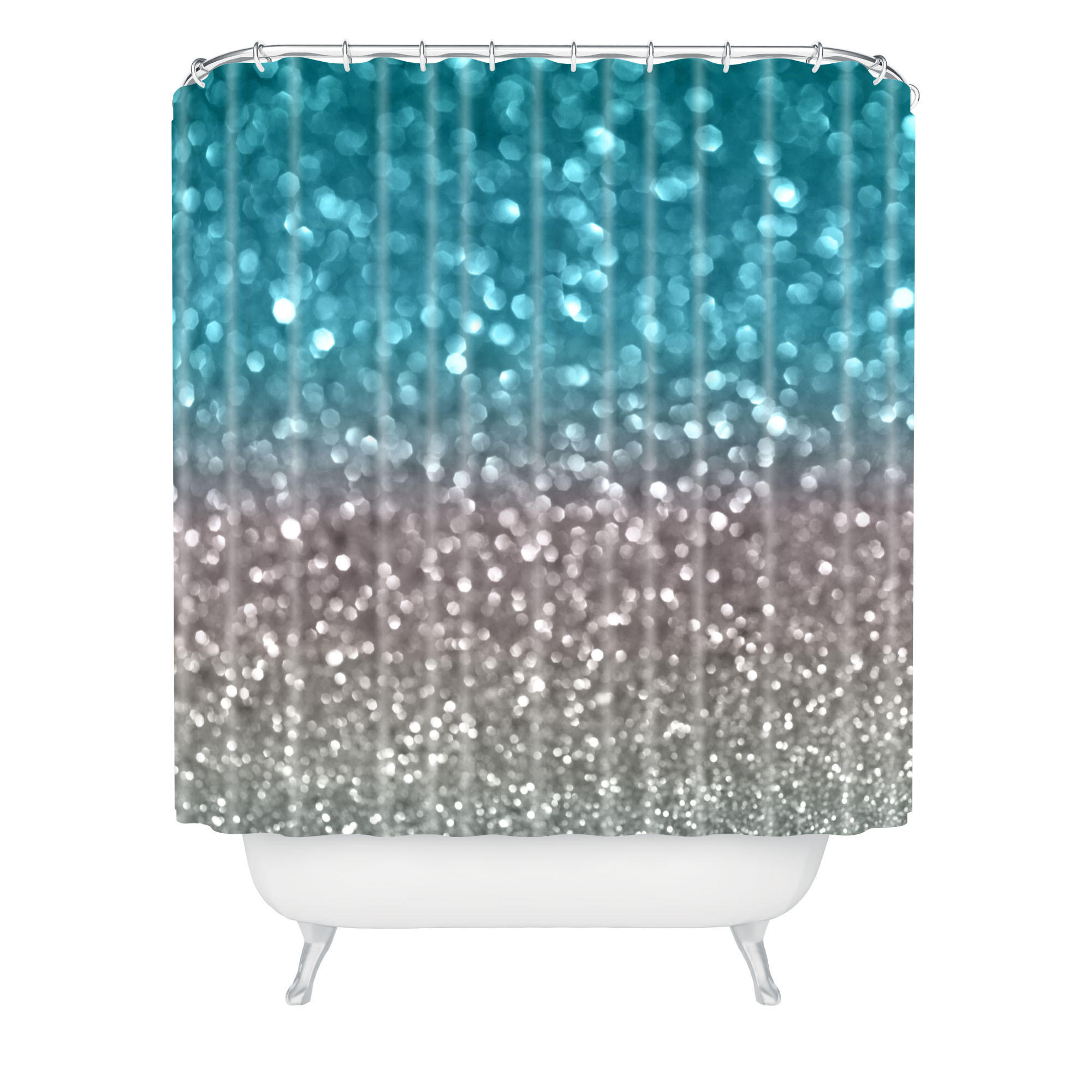 Lisa Argyropoulos Aqua And Gray Shower From DENY Designs DENY