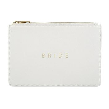 BRIDE POUCH IN PEARL WHITE