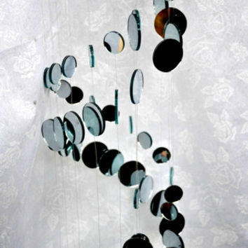 Spiral Mirror Mobile -- 39 Inches Long