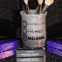 Maybelline Mac Melanin Makeup Brush Holder - YOU CUSTOMIZE!