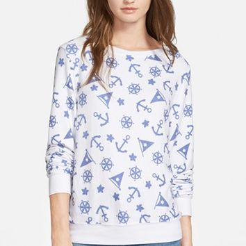 Women's Wildfox 'Anchor Party' Pullover Sweatshirt