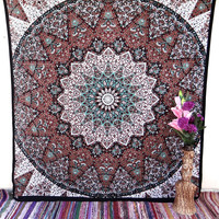 Star Mandala indian tapestries,dorm tapestry,bohemian tapestry,  elephant tapestry,wall art,psychedelic tapestry,dorm decor