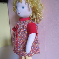 Cecilia our goldy Locks doll, in Waldorfstyle, fabric doll, OOAK