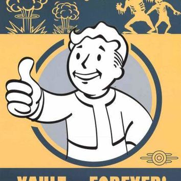 Fallout 4 Vault Boy Video Game Poster 24x36
