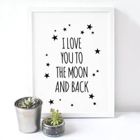 Love Quote Canvas Art Print Poster, Wall Picture - No Frame