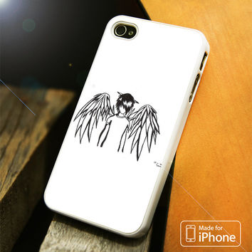 emo angel by linkesammy iPhone 4(S),5(S),5C,SE,6(S),6(S) Plus Case