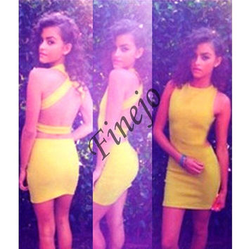 Women's Backless Bandage Evening Party Clubwear Bodycon Tight Dress SV002227 = 1902370308