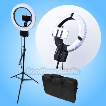 Studio 40W Ring Lamp Light with 90cm Tripod Stand + Diffuser + Camera Bracket + Phone Holder + Carry Bag for Photography Video