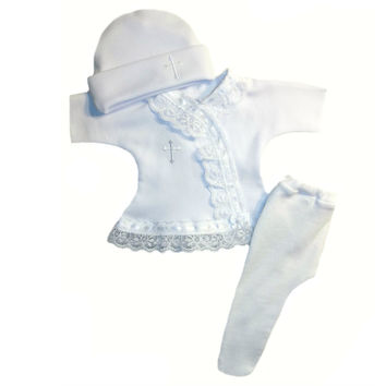 Baby Girls' White Christening Dress Set