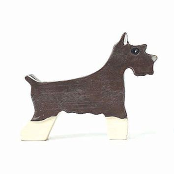 Schnauzer Shaped Animal Photo Business Card Stand Memo Holder | Gifts for Dog Lovers