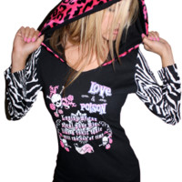 Women's Love & Poison Sexy Fit Hoodie