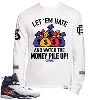 OutRank Apparel Let 'em Hate 3 Peat 8s Long Sleeve Tee