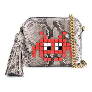 ANYA HINDMARCH | Space Invaders Python Skin Cross-Body Bag | Womenswear | Browns Fashion