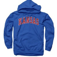 Kansas Jayhawks Adult Classic Arch Hooded Sweatshirt