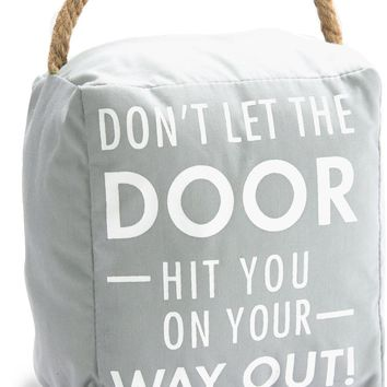 Don't let the door hit you on your way out! Door Stopper