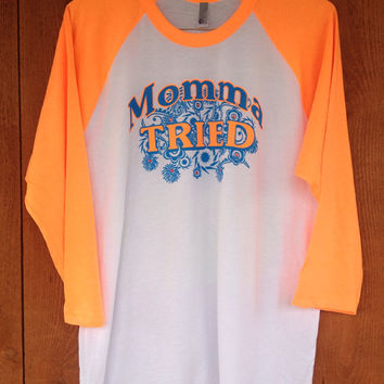 Momma Tried Bling 3/4 Sleeve t-Shirt