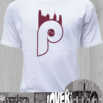 Phillies Skyline TShirt Tee Shirts Black and White For Men and Women Unisex Size