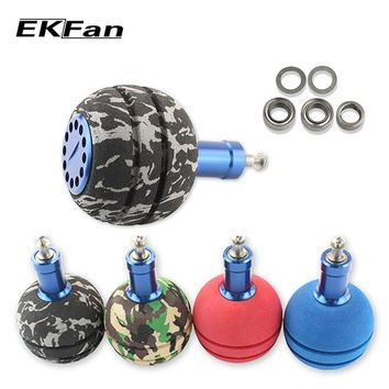 EKFan 40MM EVA fishing reel handle knob fishing rocker knob fishing reel accessory for 8000-10000 series spinning wheel