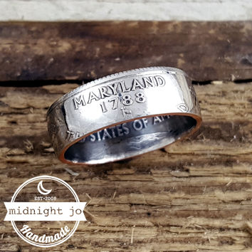 Maryland State Quarter Coin Ring