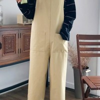 Cute Front Pocket Overall Pants