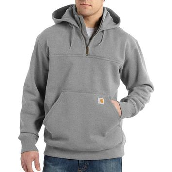 Carhartt Men's Paxton Heavyweight Hooded Zip Mock Sweatshirt | Academy