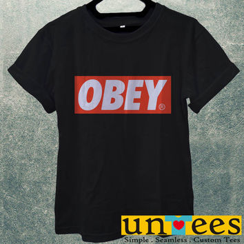 Low Price Men's Adult T-Shirt - Obey Logo design