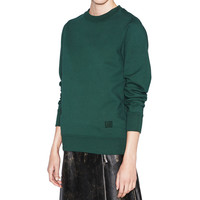 Acne Studios Vernina Dyed Bottle Green Sweatshirt