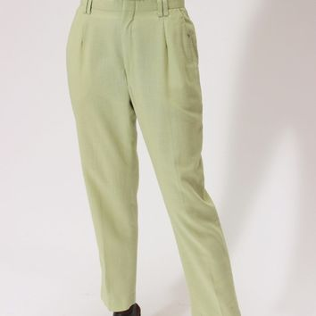 Woven Grass Tapered Trousers / L