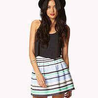 Essential Textured Woven Striped Skirt