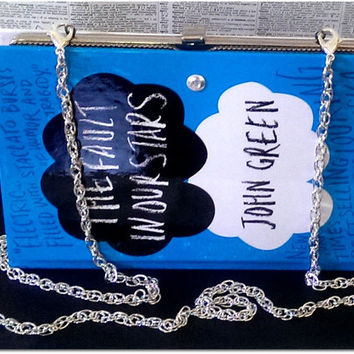 Book Clutch The Fault In Our Stars by John Green Illustrated Cover Book Purse Clutch Made to Order