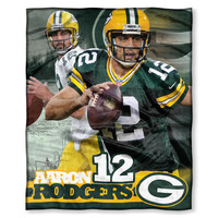 Green Bay Packers NFL Aaron Rodgers Silk Touch Throw (50in x 60in)