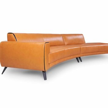Casablanca Leather Sectional 2pcs Honey