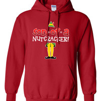 Son of a Nutcracker Hoodie eleven cookies vcr Buddy The Elf Crew neck Sweatshirt Funny shirt kids youth Womens Santa Merry Christmas DT-651