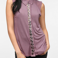 Urban Outfitters - Silence & Noise Embellished Button-Down Shirt